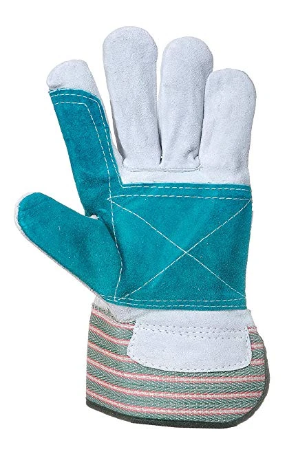 LEATHER WORK/RIGGER DOUBLE PALM GLOVES – GREEN
