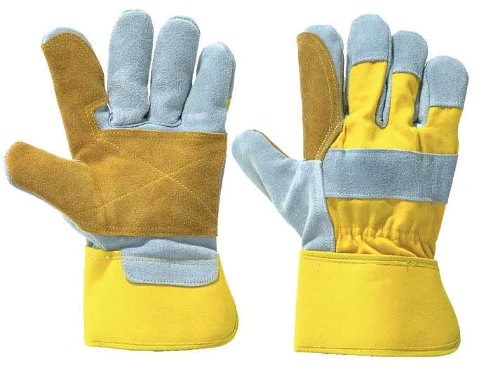 LEATHER WORK/RIGGER DOUBLE PALM GLOVES – YELLOW