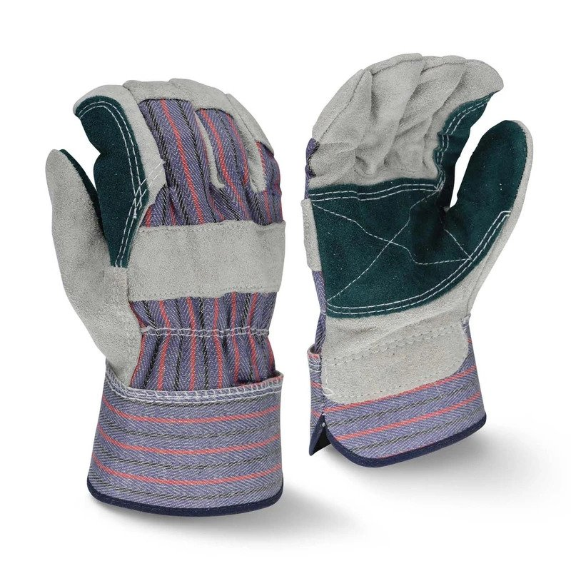 LEATHER WORK/RIGGER DOUBLE PALM GLOVES – BLUE