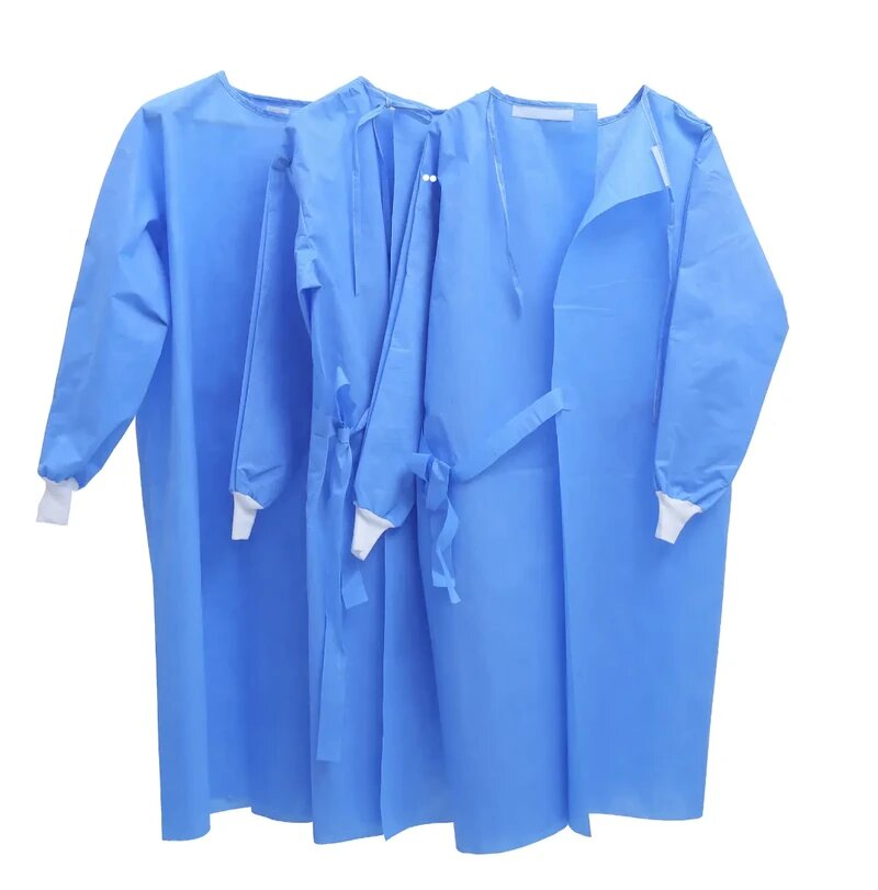 ISOLATION GOWNS BLUE, LEVEL-3 60GSM – FDA CERTIFIED