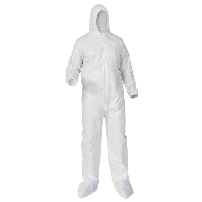 PROTECTIVE DISPOSABLE COVERALLS- WHITE